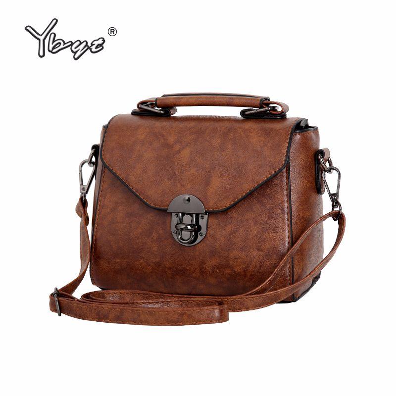 Designer YBYT Brand 2019 New Vintage Casual Women PU Leather Small Package Female  Simple Handbags Ladies Shoulder Messenger Crossbody Bag Ladies Purses ... f4e636394a
