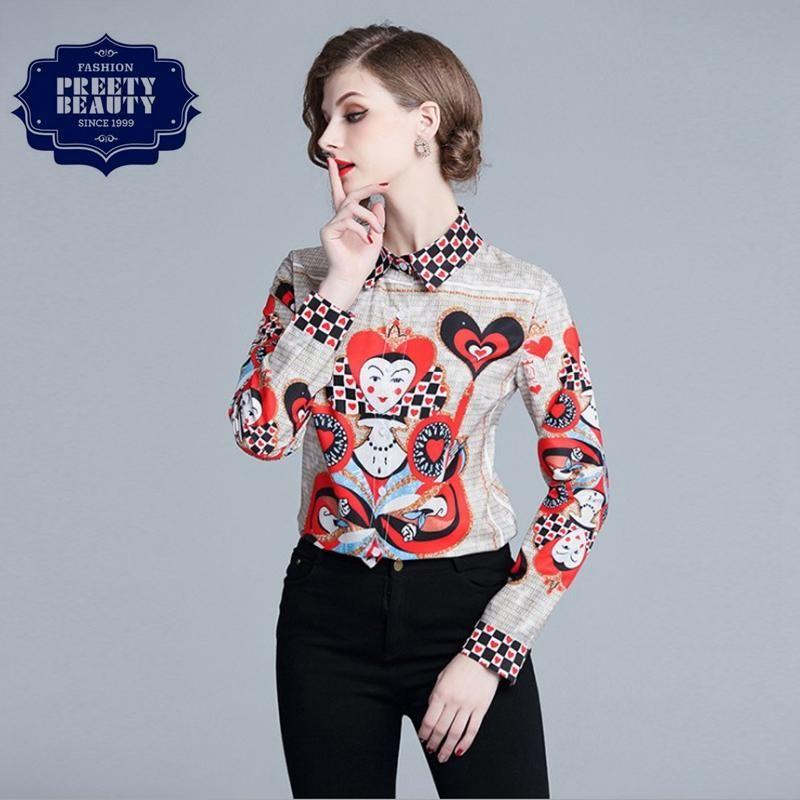 67b916ec High Quality Shirt Chic Custom T Shirt for Women Casual Blouse Lapel ...