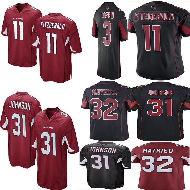 cheaper 2f950 6fa80 Men #11 Larry Fitzgerald 3 Josh Rosen Cardinals Jersey 31 David Johnson 32  Tyrann Mathieu 13 Kurt Warner Jerseys