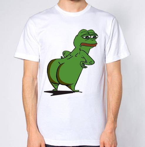 Pepe The Frog T-Shirt Big Bum Funny Booty Ass Joke Top Hilarious Funny free shipping Unisex Casual