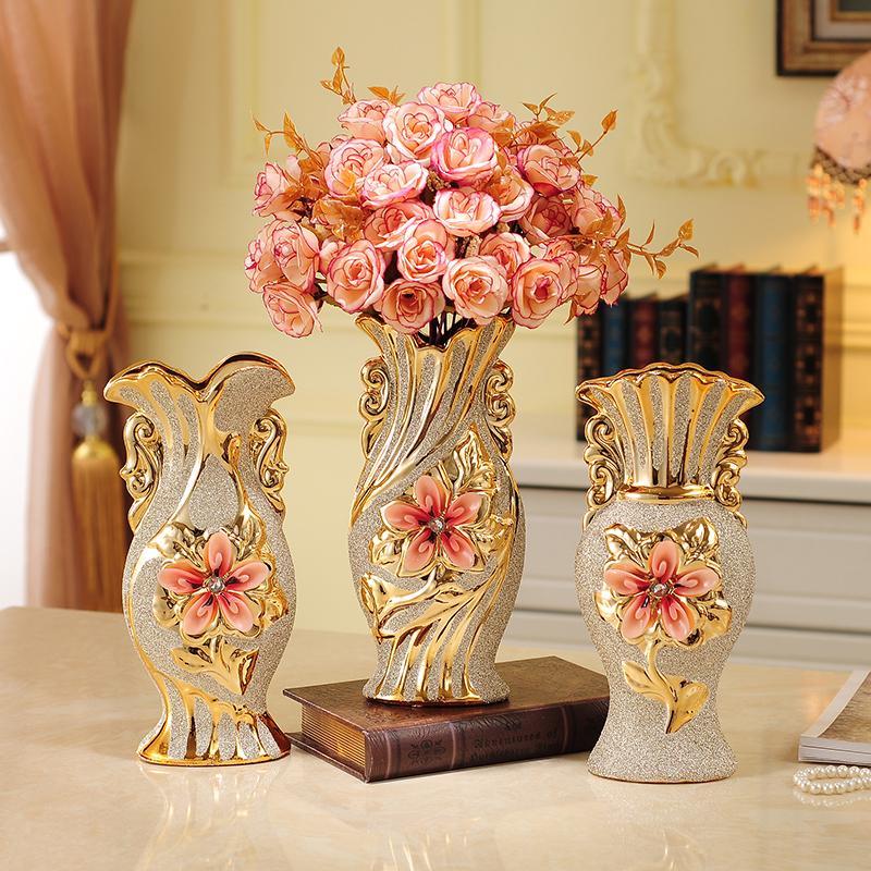 European Ceramic Vase Decoration Crafts Living Room Tv Cabinet