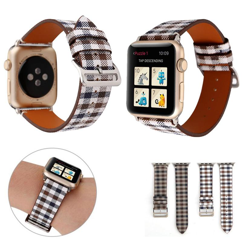 Luxury Genuine Leather Apple Watch Bands for Apple Watch Band iWatch 38 42mm 40 44mm Leather Sports Bracelet Designer Replacement Watch Band