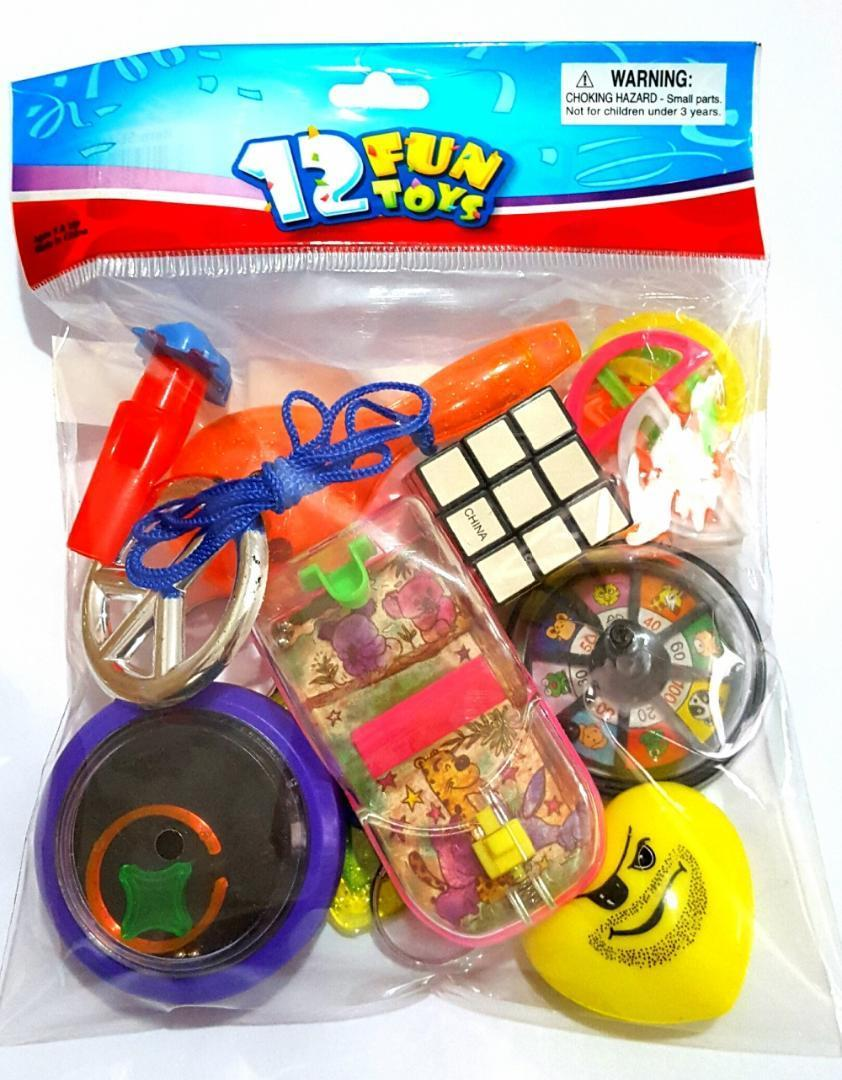 12 PCS Fun Toys Unisex MIX-C Kid Child Boys Girl Kid Birthday Party Favors PINATA Bag Filler Loot Gag LUCKY gift PRIZE Novelty