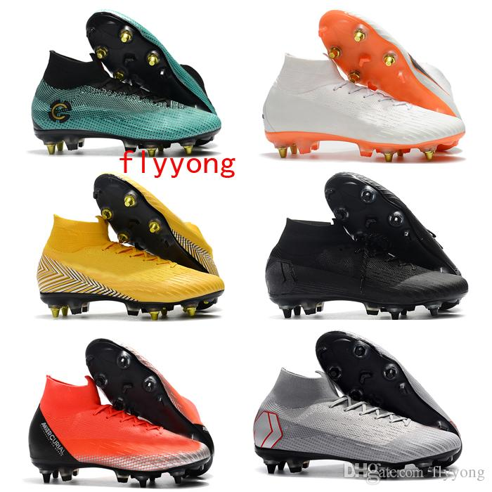 more photos 6fece 478cb 2019 Bestselling Mercurial Superfly VI Elite SG Pro AC Soccer Cleats VI  Elite CR7 SG Soccer Shoes Neymar Mens Foobtall Boots Fly Knit From Flyyong,  ...