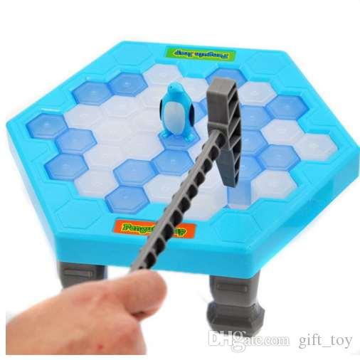 HOT Save Penguin Ice Kids Puzzle Game Break Ice Block Hammer Trap Party Toy Cherryb