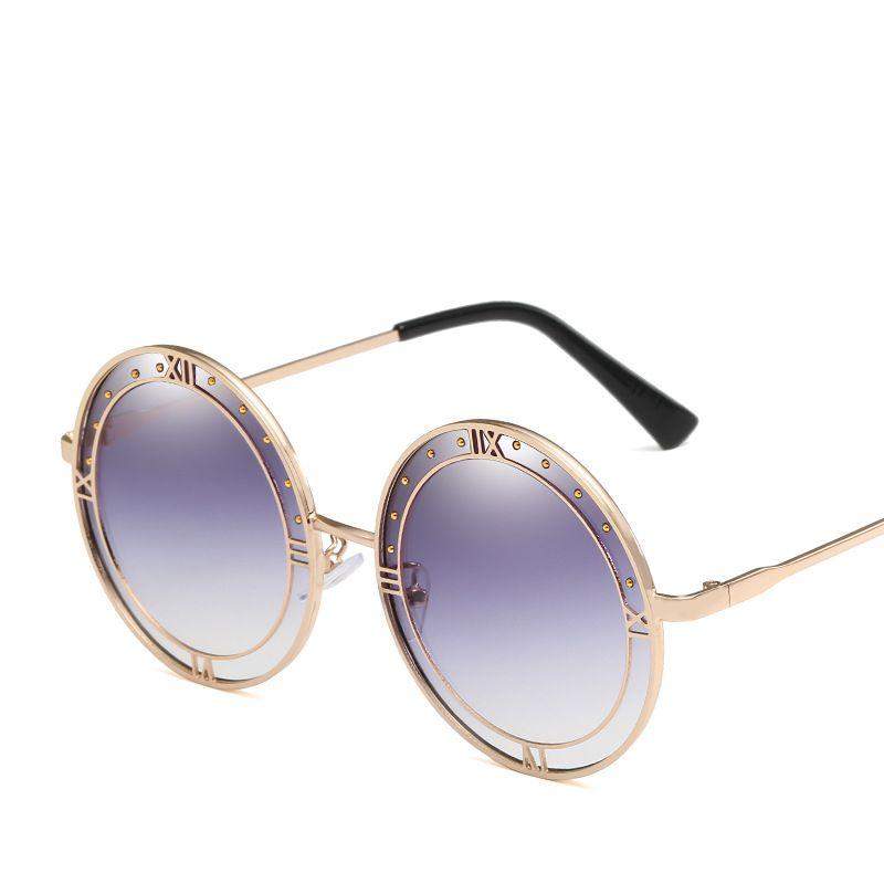 6bc7fc92f5bc4 Compre 2019 Nova Rodada Óculos De Sol De Boa Qualidade Full Frame Designer  Retro Óculos De Proteção UV De Luxo Da Marca Eyewear Popular Gradiente  Óculos De ...