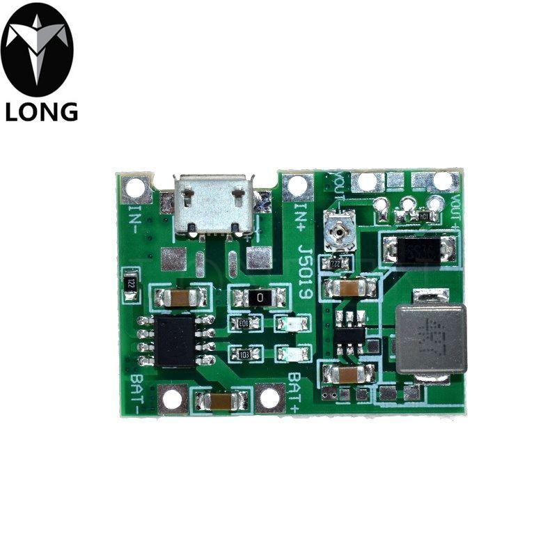 Бесплатная доставка литий Li-иона 18650 3.7V 4.2V Батарея Зарядное устройство Совет DC-DC Step Up подталкивания Модуль TP4056 DIY Kit Parts