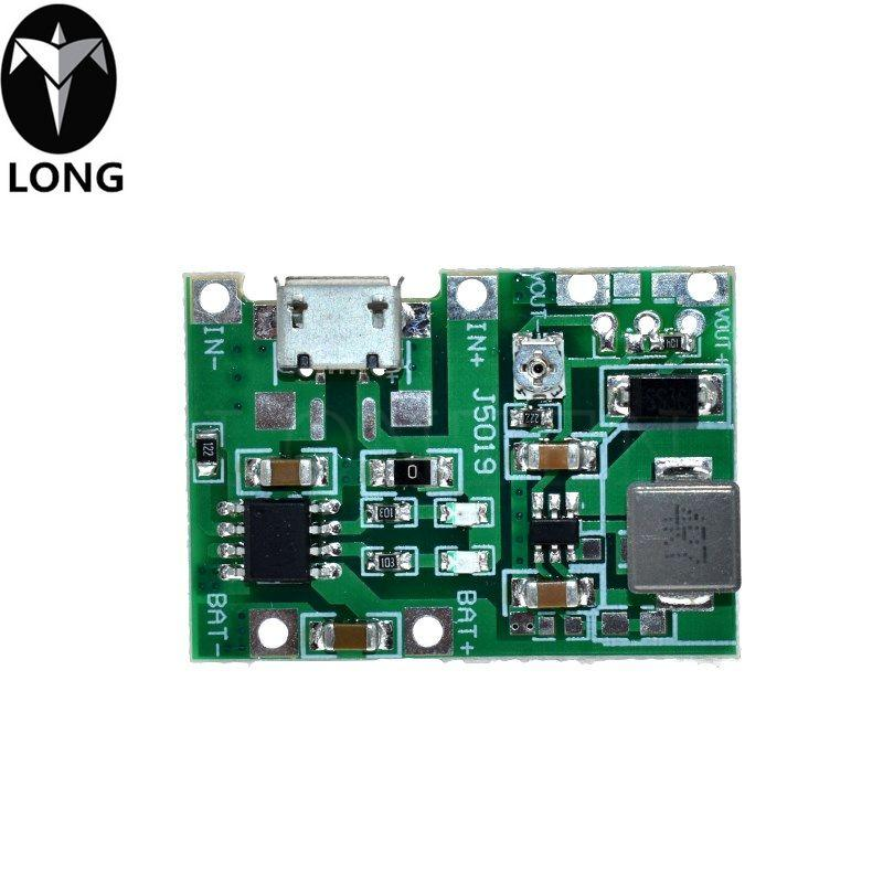 Li-ion de litio libre del envío 18650 3.7V 4.2V batería de la placa del cargador DC-DC Step Up Boost TP4056 Módulo de piezas del kit de bricolaje