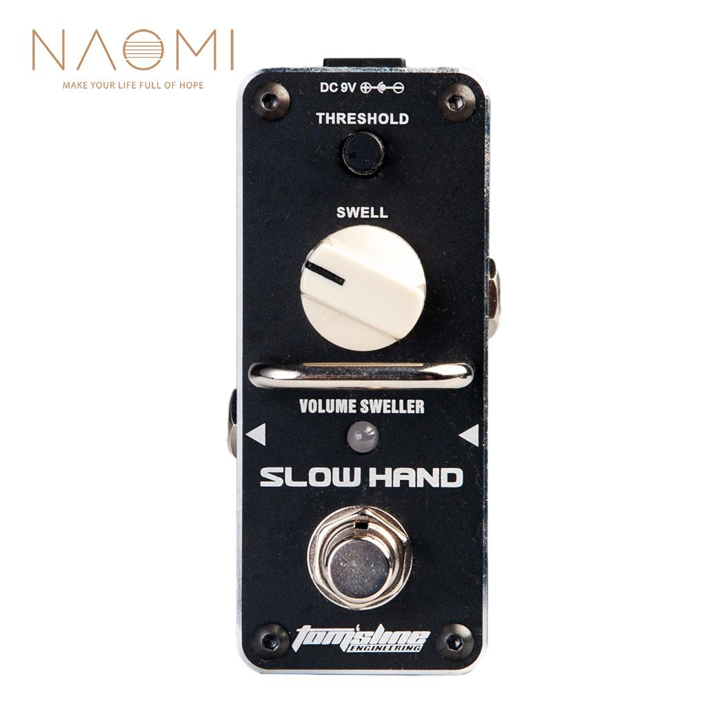 NAOMI Aroma ASH-3 Guitar Effect Pedal Volume Sweller Pedal Threhold Violin-like Tone Mini Analogue Pedal True bypass