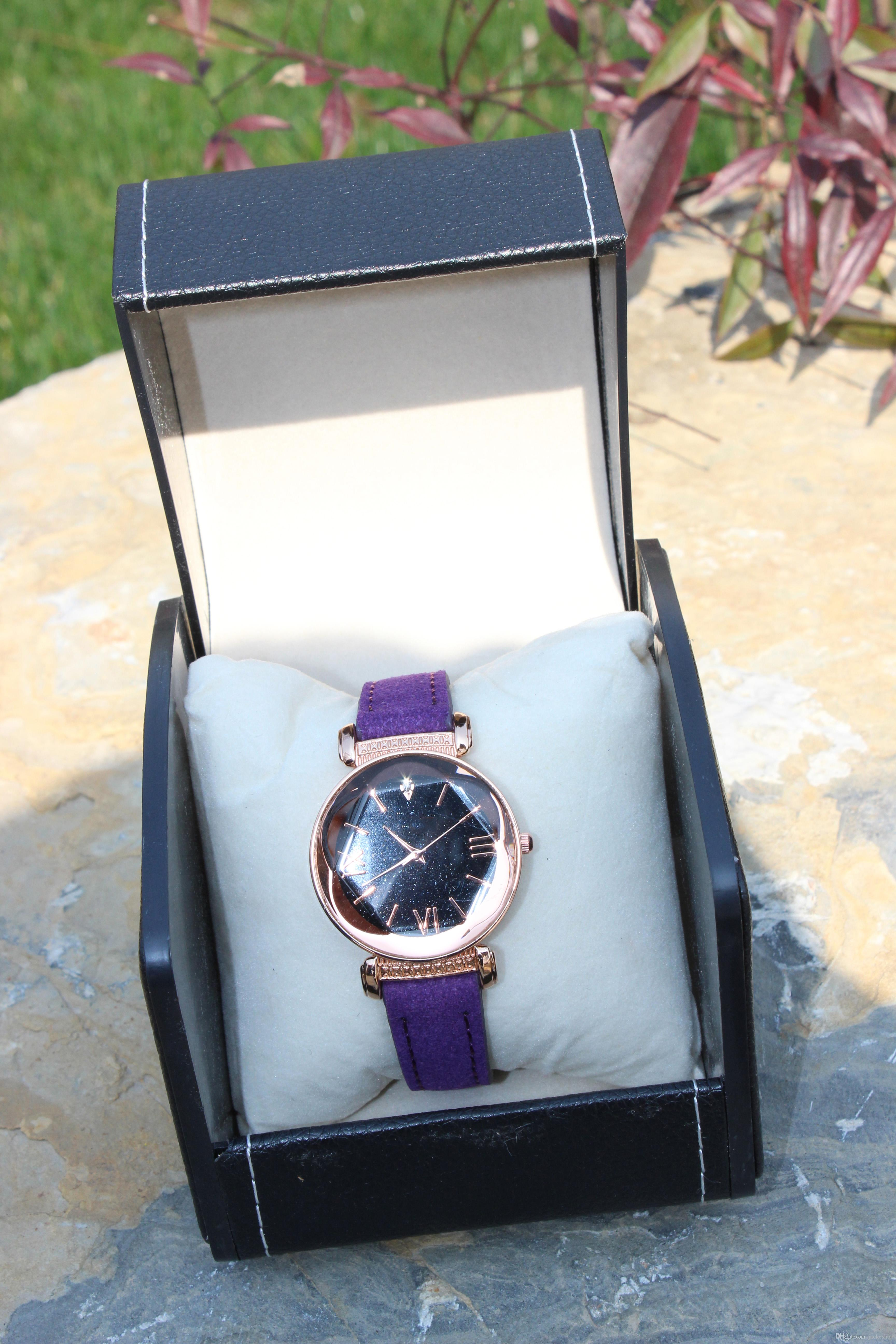 42dd34490 New Ladies Watches Women Watches Elegant Minimalism Rhinestone Casual  Purple Female Waterproof Clock Wrist Watches Online Wrist Watches Online  Shopping From ...