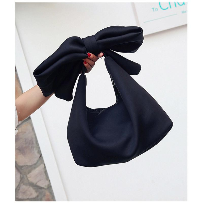 Bags For Women 2019 Fashion Wobag Women Handbag Style Bag Bow Bags Pink Red White Soft Space Cotton Tote Retrol Spring Summer