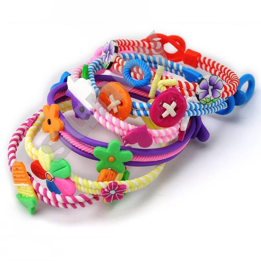 mix Fimo polymer clay children's cartoon bracelet kids Charm Bracelets hand student prize gift Wholesale Cheap Jewelry