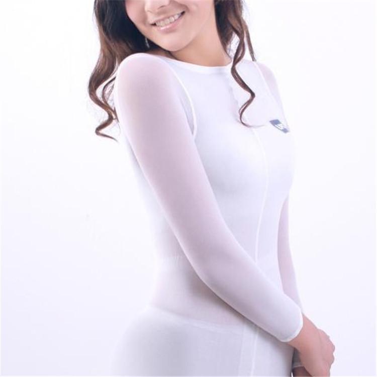 Venta caliente blanco LPG traje corporal adelgazante traje para máquina de masajeador de rodillo de vacío Velashape alta elasticidad ropa suave
