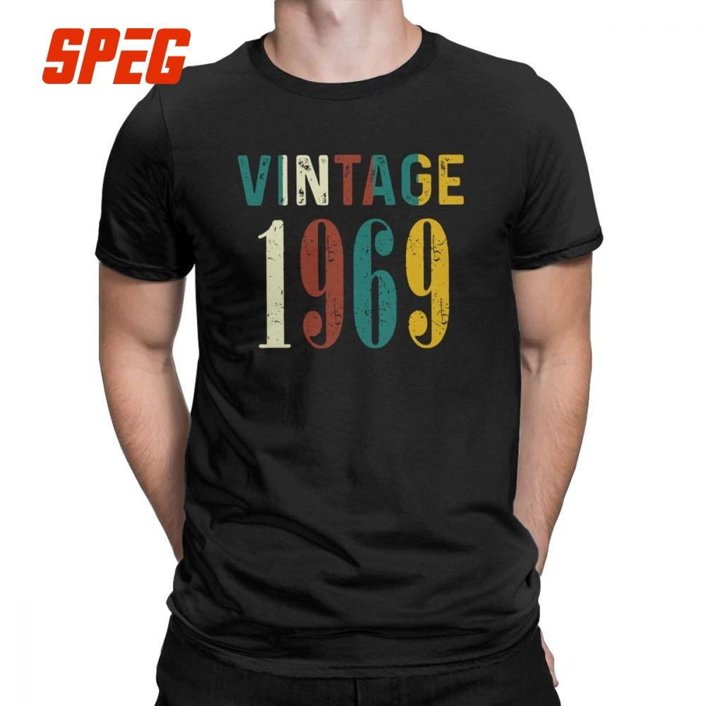 630373b02 Men T Shirts 50th Birthday Celebration Gifts Novelty Short Sleeved Awesome  Since 1969 Vintage Tees Clothing