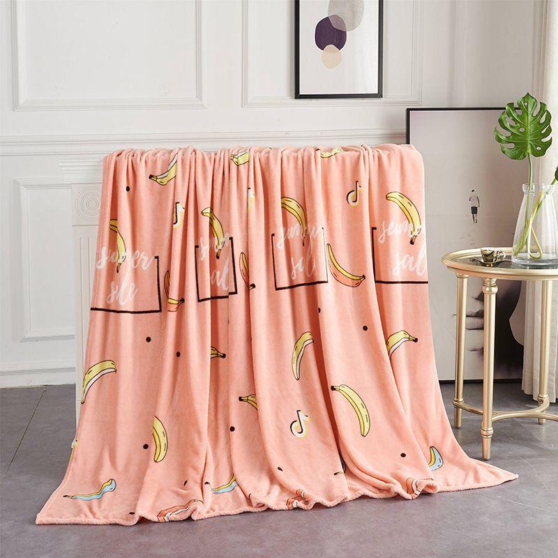 Drop Shipping Flannel Coral Fleece Blanket Super Soft Plaids