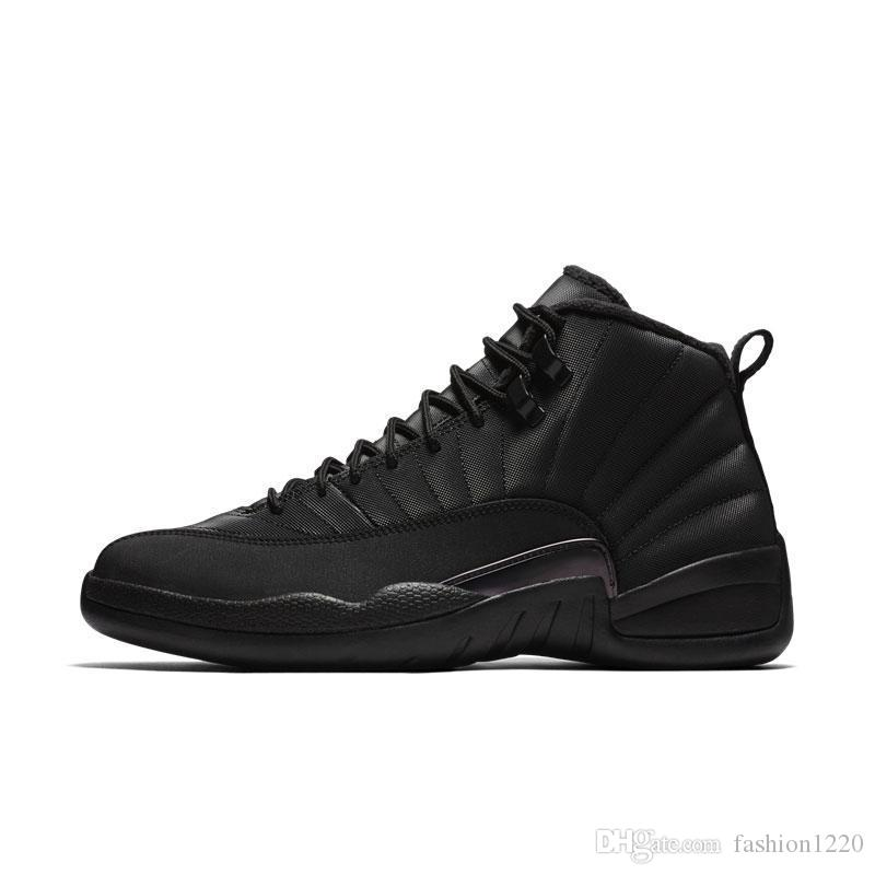 2019 Mens 12s shoe Winterized WNTR Gym Red Michigan Bordeaux 12 white black The Master Flu Game taxi sports sneaker trainers size 7-12