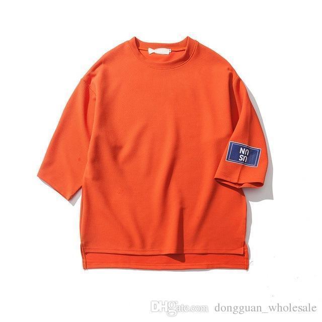 9dfde4ea1f2 Solid Color Oversized Mens T Shirt Short Sleeve Nice Summer Hi Street New  Fashion Tshirt Hip Hop Tshirts Blank Tee Shirts Awesome T Shirts For Guys  Cool Tee ...