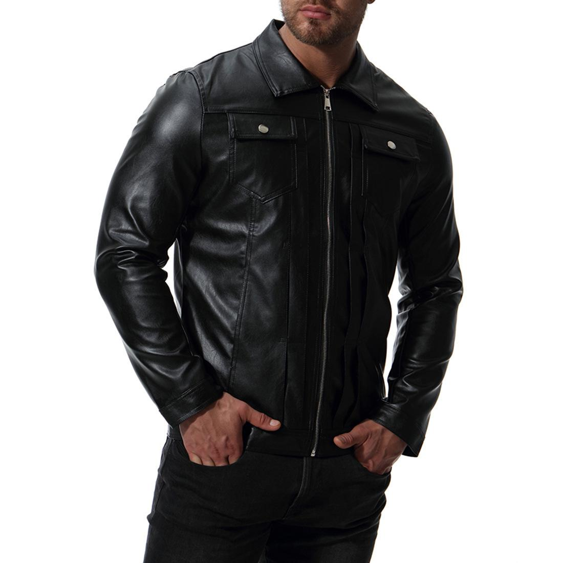 New Arrive Brand Motorcycle Leather Jacket Men, Mens Leather Jacket Jaqueta De Couro Masculina,mens Leather Jackets Coats