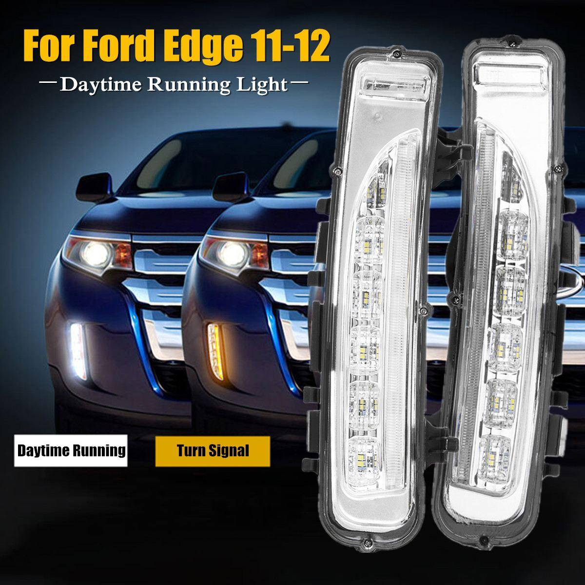 Led Daytime Running Light Dc V For Ford For Edge Suv Fog Lamp Drl   Turn Signal White Yellow Safety Durable Waterproof From Jinggongcar