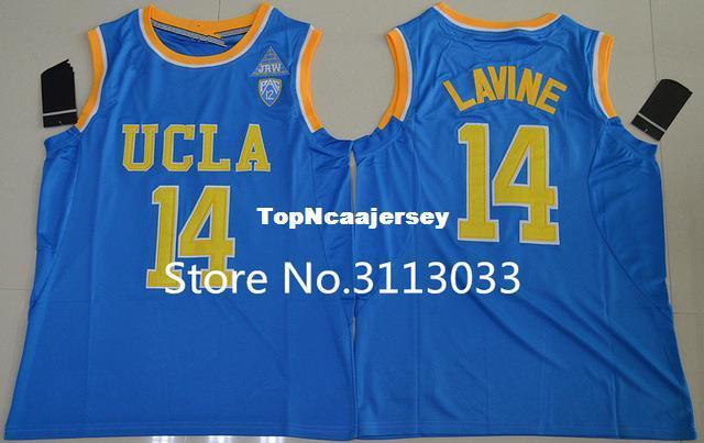 f58c309fbe6 2019 Zach LaVine  14 Blue Basketball Jersey College UCLA Bruins Stitched XS  XXL Vest Jerseys NCAA From Topncaajersey