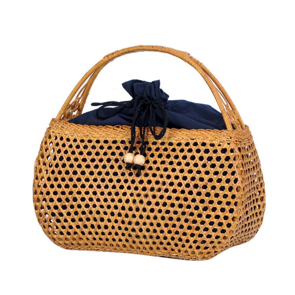 9bb3a501bc Bohemian Manual Rattan Woven Cutout Beach Bag Retro Woven Straw Braided  Hand Bag Fashionable Household Rattan Storage Bag Crossbody Bags Satchel  From ...