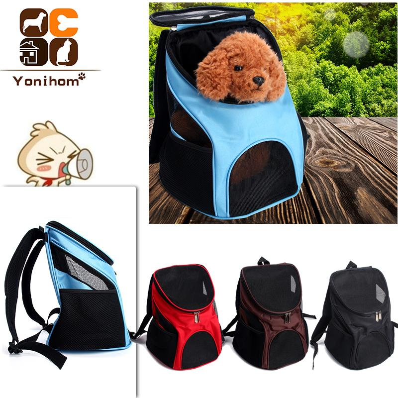 a36e2c56a5 2019 Pet Dog Carriers Backpack Bags Pet Cat Outdoor Travel Carrier Packbag  Portable Zipper Mesh Backpack Breathable Dog Bags Supplies D19011201 From  ...