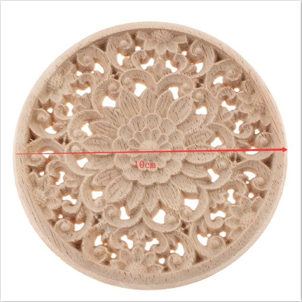 natural wooden flower corner onlay applique frame home furnishing lintel wall corner frame decor craft