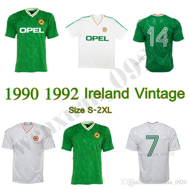 1990 1992 Ireland retro soccer jersey 1990 world cup Ireland home classic jersey 90 92 vintage Irish Sheedy size S-XXL football shirts
