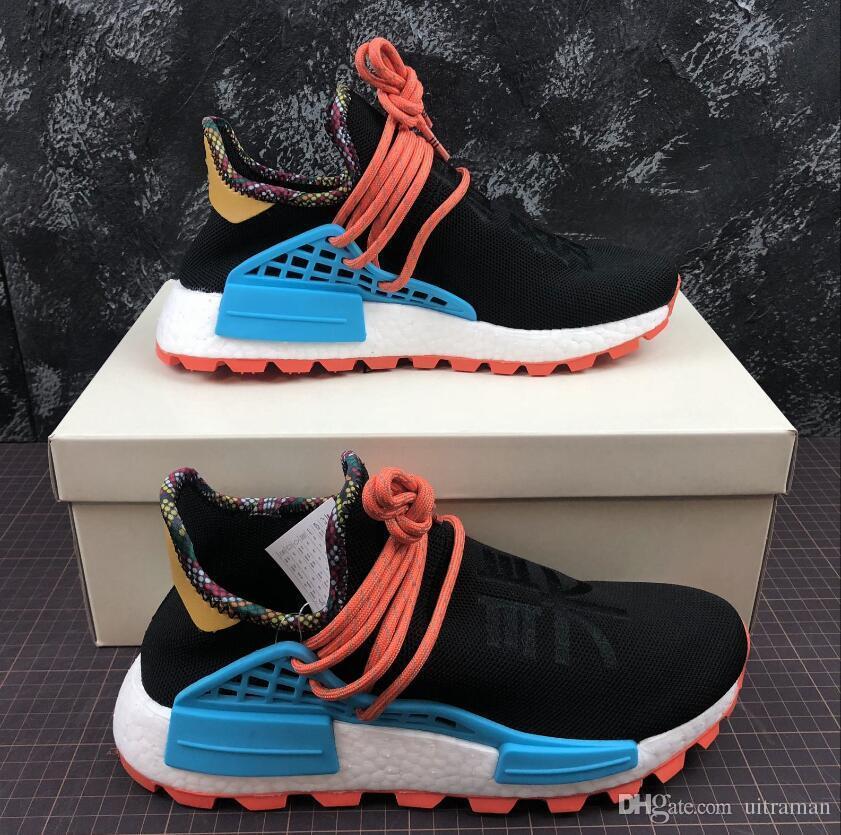 df7c7b147 2019 Body Earth BBC Holi Cream Human Race Trail Running Shoes Men Women  Pharrell Williams HU Runner Equality Glow Sports Trainer Sneake KE Cheap  Shoes ...
