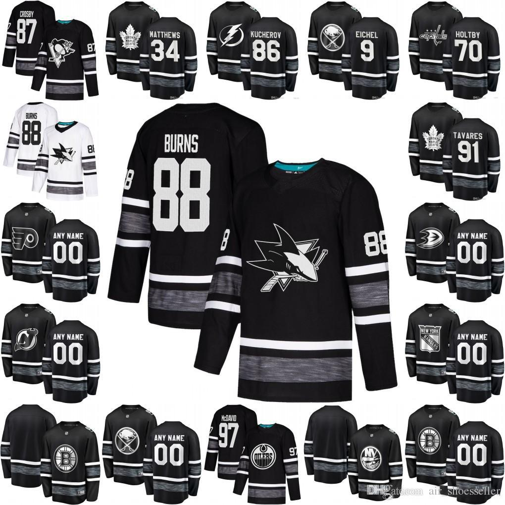 super popular 8ad27 c1c0b 2019 NHL Men All Star Hockey Jersey Connor McDavid David Pastrnak Joe  Pavelski Brent Burns Henrik Lundqvist Sidney Crosby Patrick Kane