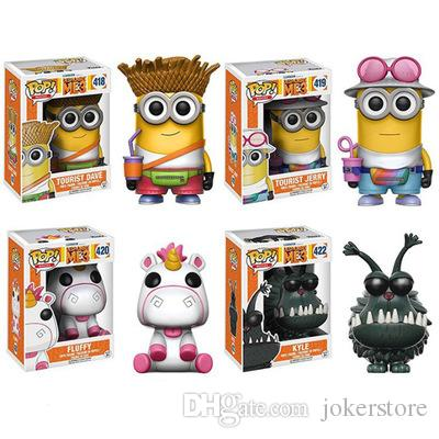 Funko Pop Despicable Me Fluffy Tourist Dave Figures Action Figures Hot Toys Birthdays Gifts Doll Free Shipping