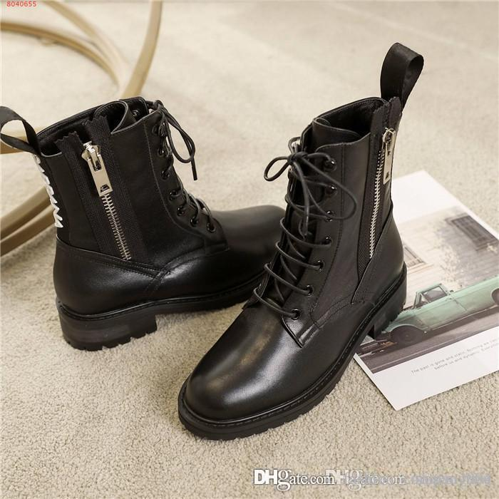2019 New Autumn Winter Spring Leather Motorcycle Boot
