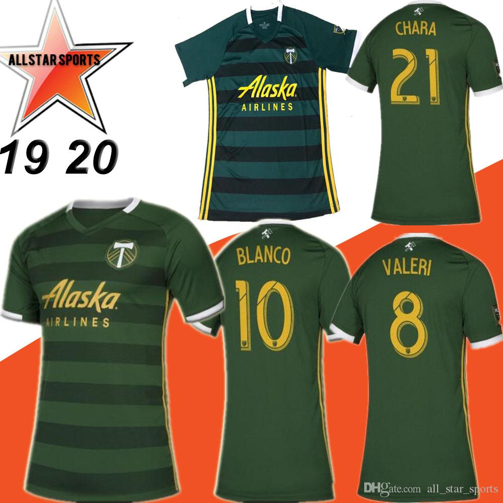 cheap for discount 1a37a 052cd MLS 2019 PORTLAND TIMBERS home green Soccer Jerseys PORTLAND TIMBERS Soccer  Shirt Customized #10 BLANCO # 8 VALERI football uniform