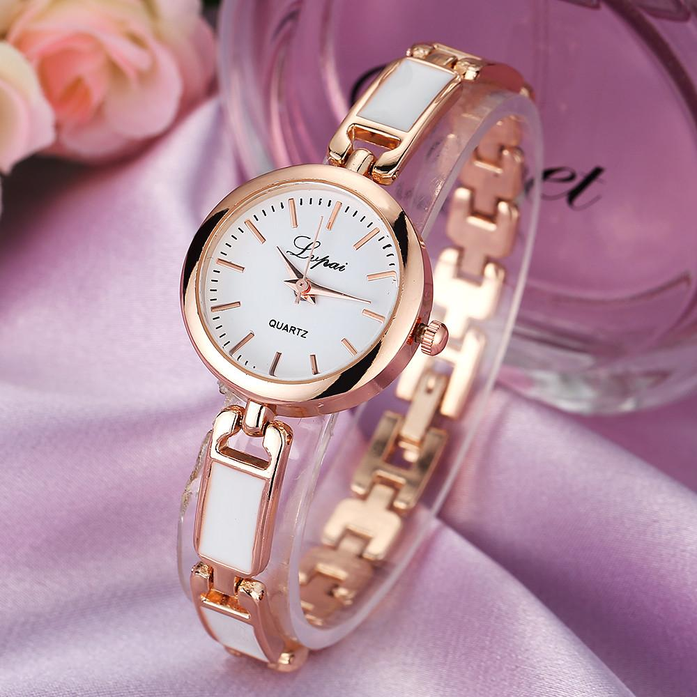 2019 LVPAI Women Bracelet Watch China Alloy Quartz WristWatches Ladies Dress Watch Fashion Casual Gift Clock