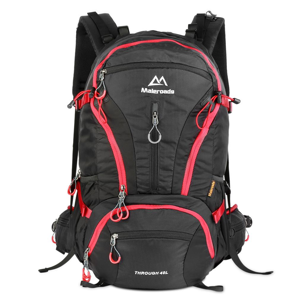 e32f12431eb Maleroads 40L Nylon Travel Bag Outdoor Sports Hiking Backpack Water Resistant  Travel Rucksack Mountaineering Climb Bag Pack Toddler Backpacks Mens  Backpacks ...