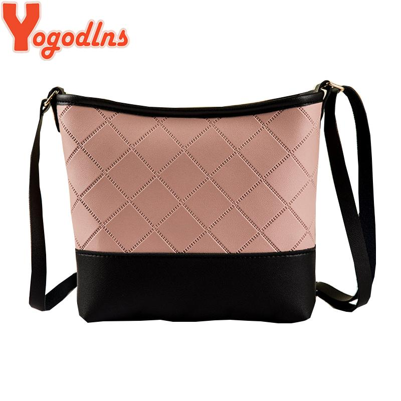 4b497b499e Yogodlns Vintage Fashion Small Women Leather Bucket Bag Handbag Splice  Drawstring Shoulder Bag Messenger Crossbody Bags Purses Shoulder Bags Cheap  Shoulder ...