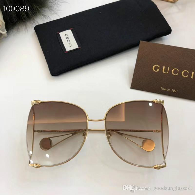 e3e18c077e8c7 Luxury 0252S Sunglasses For Women Brand Design Popular Fashion Summer Style  With The Bees Top Quality UV400 Connection Lens Come With Case Reading  Glasses ...