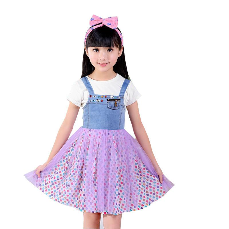 6f79a9a0 2019 Diamond Summer Girl Dress Brand Denim Baby Girls Dress 2 5 Years Kids  Clothes Children Party Clothing Vestido Infantil From Xiaocao02, $32.04    DHgate.