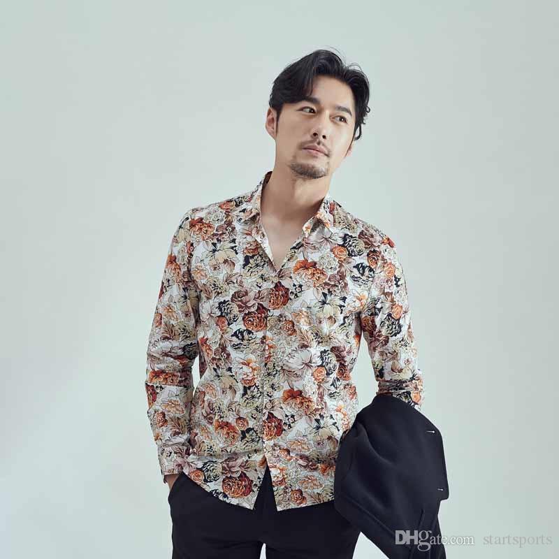 Summer Beach Hawaiian Shirt Short Sleeve Plus Size Floral Shirts Men Men  Dress Shirt Breathable Men\'s Long Sleeve Brand Clothing #388504