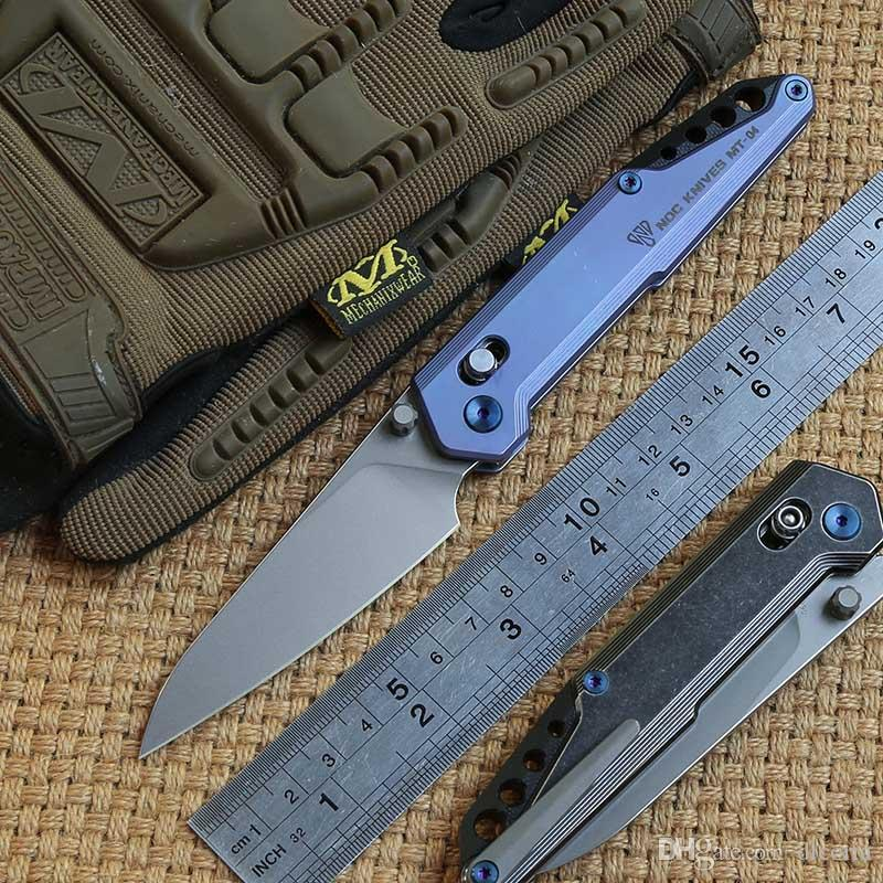 NOC MT-04 tactics folding knife KVT ball bearing M390 blade titanium handle camping hunting outdoor Survival knives EDC Tools