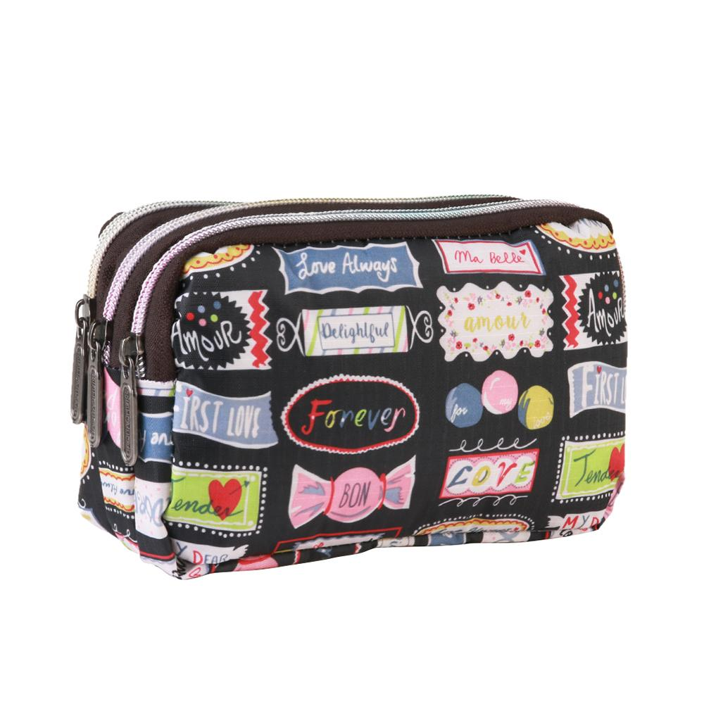 f43dba2d27a9 Fashion Women Makeup Bag Lady Waterproof Canvas Clutch Mini Handbags For  Party Cell Phone Bags Toiletry Cosmetic bag Beauty Kit