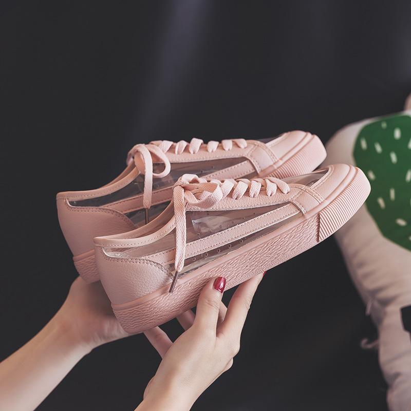 Sommer Turnschuhe Rosa Einfarbig Schuhe Frauen Weibliche