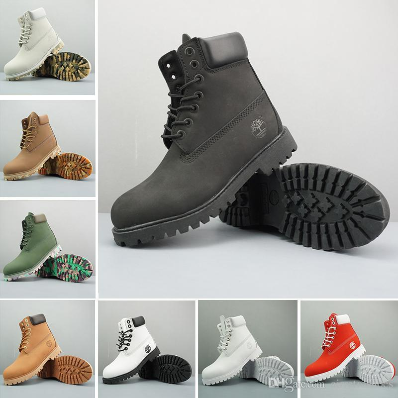 c54d4c1b7e06 2019 Original Timberland Boots Women Men Designer Sports Red White Winter  Sneakers TBL Casual Trainers Mens Womens Luxury Brand Boot 36 46 White  Mountain ...