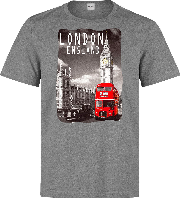 Compre Londres Inglaterra Big Ben E Red Bus Homens Mulher Disponível  Camiseta Cinza De Boystshirts55 7e7688ea8b70e