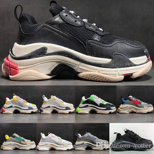 691512f4887 2018 Fashion Paris 17FW Triple-S Sneaker Triple S Casual Luxury Dad ...