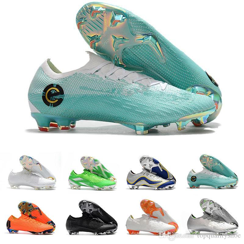 eefd5d267ca 2019 Mercurial Superfly CR7 Mens Soccer Cleats Low Cut Scarpe Calcio Ora KJ  VI Elite Cristiano Ronaldo FG Football Boots Soccer Futsal Shoes From ...