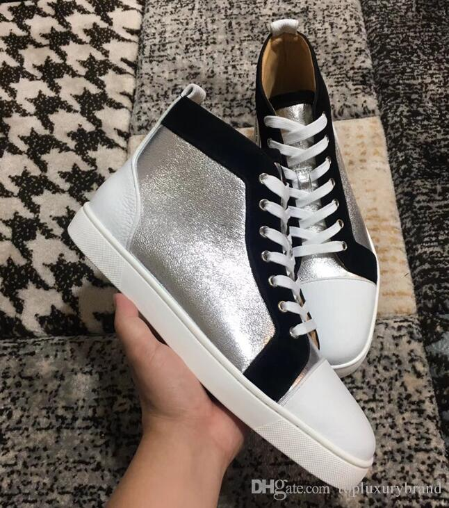 e5110e83e56e New Arrivals Genuine Leather High Top Shoes Fashion Without Spikes ...
