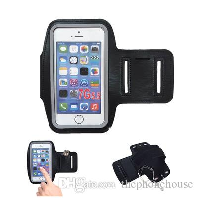 3e5637f5d For Iphone 7 6 6s Plus Waterproof Sports Running Armband Case Workout  Armband Holder Pounch Cell Mobile Phone Arm Bag Band Silicone Phone Cases  Cell Phone ...