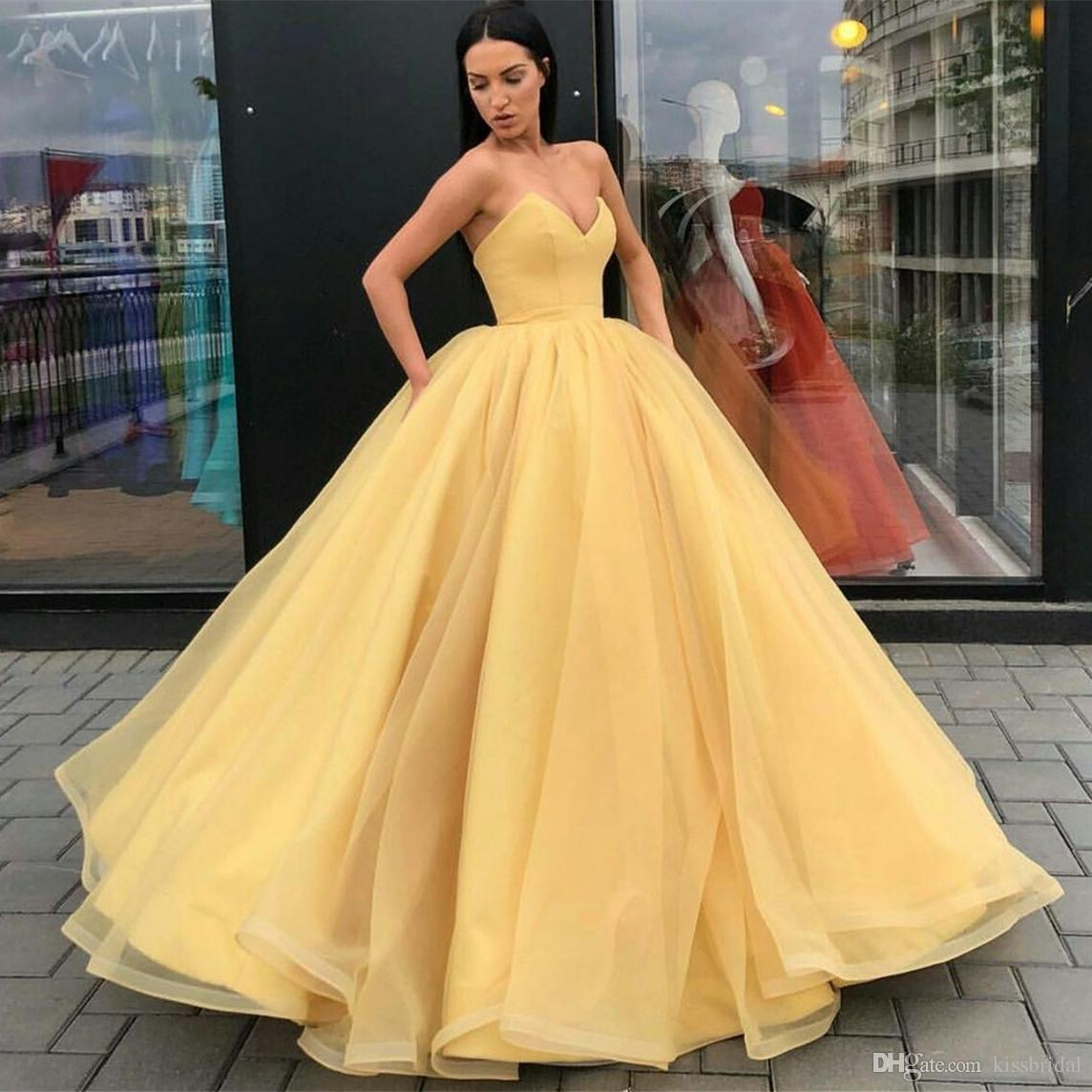 2020 Sexy Backless Princess Prom Dresses Long Ball Gown ...