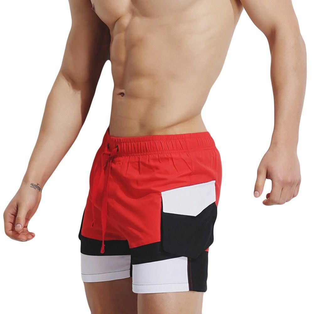 214c1ee1e1 2019 2019 Swimwear Men Swimming Trunks Mens Breathable Swim Trunks Pants  Swimwear Shorts Slim Wear Bikini Swimsuit Board Shorts Z0411 From Molanhua,  ...